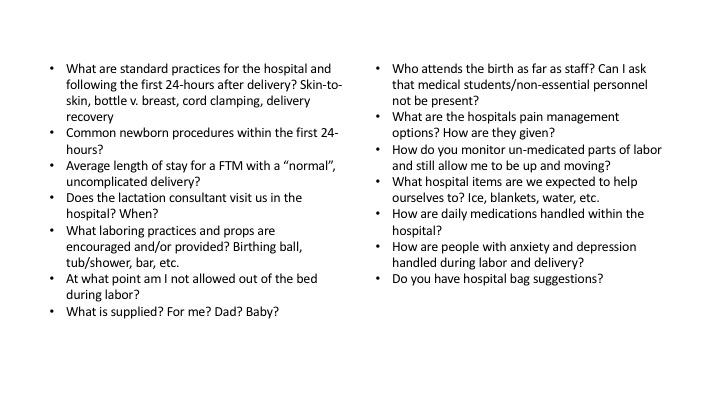 Hospital Questions